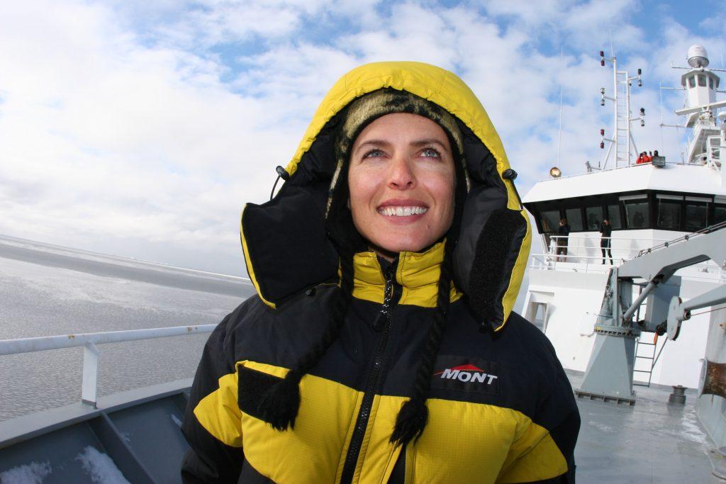 Natalie in the Antarctic